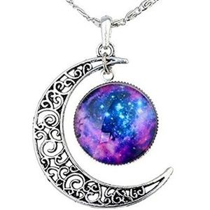 🔮COMING SOON🔮 Crescent Moon Galaxy Necklace